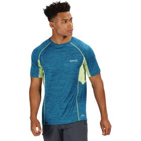 Regatta Deserta T-Shirt Homme, sea blue/lime punch